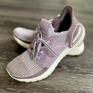 Adidas Ultra Boost Running Shoes in Lilac Knit